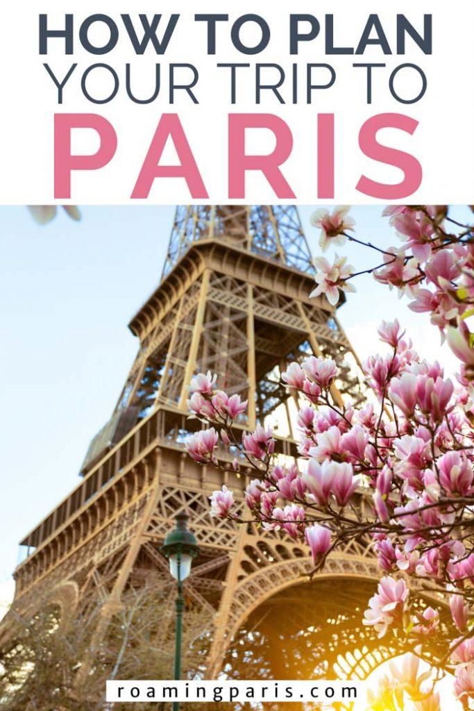 Planning a trip to Paris Pinterest graphic